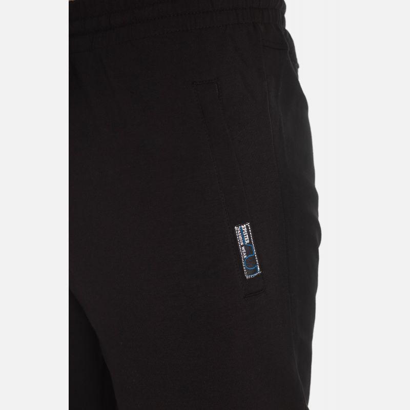 Męskie Spodnie Dresowe 3/4 - Czarne (57149)