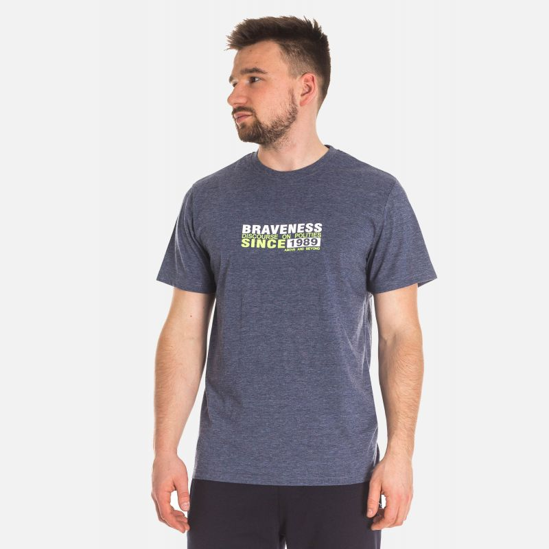 Koszulka Męska Bawełniana - Grafitowa (67310)