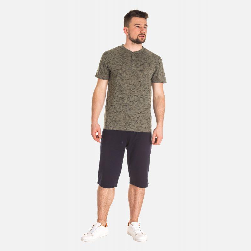 Koszulka Męska Bawełniana - Khaki (67314)