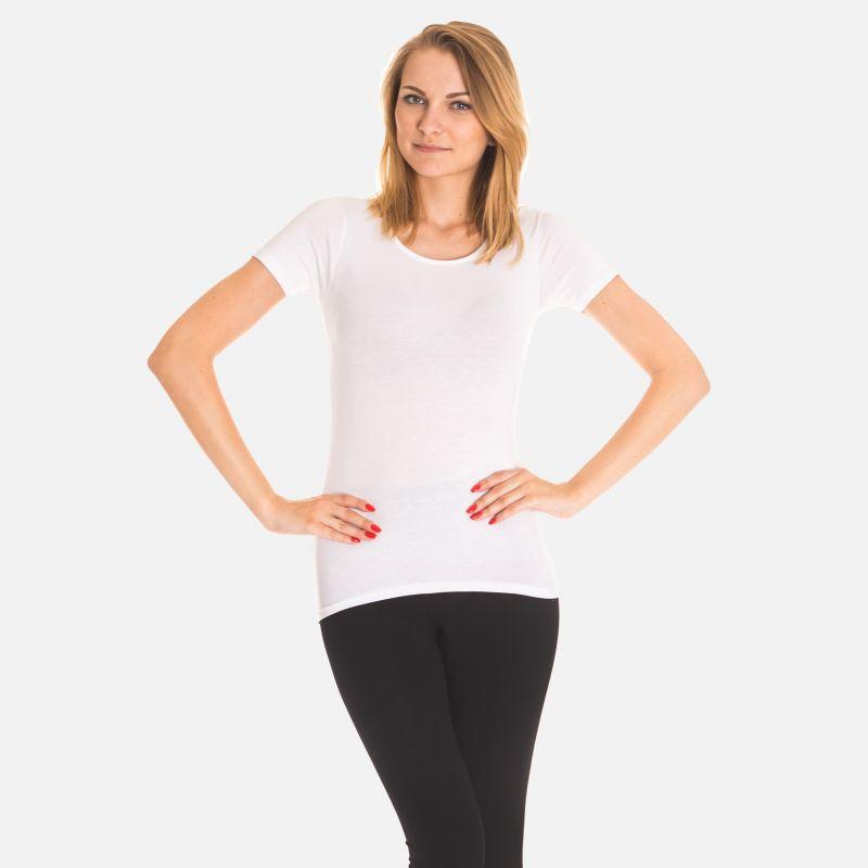 Koszulka damska z włókna bambusowego biała 703