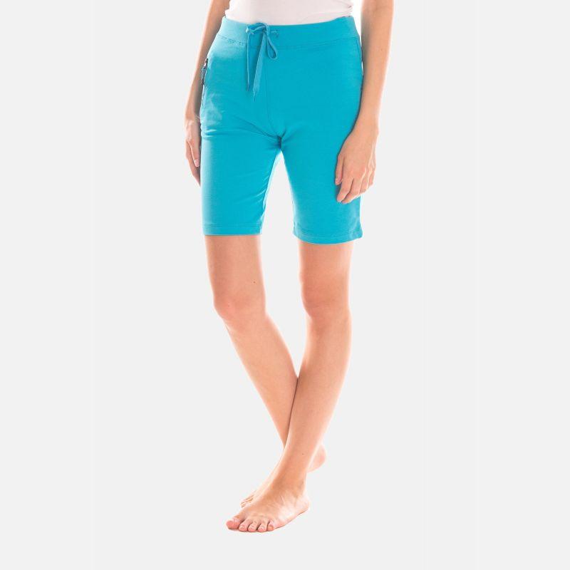 Spodnie Krótkie Damskie  - Niebieskie (46395)