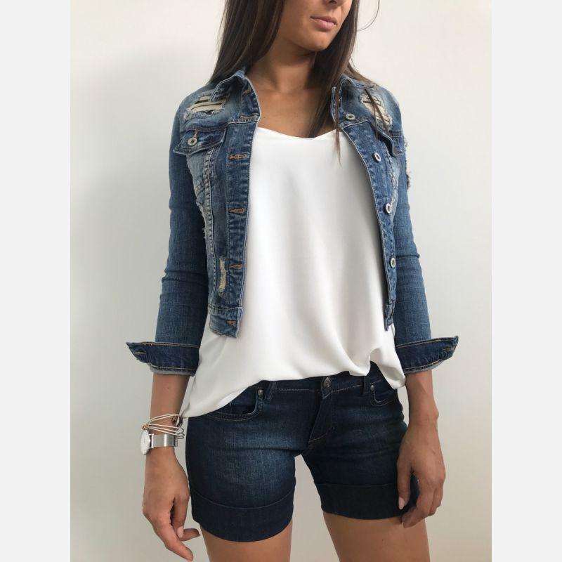Spodenki Damskie - Szorty Benter - Jeans (N400)