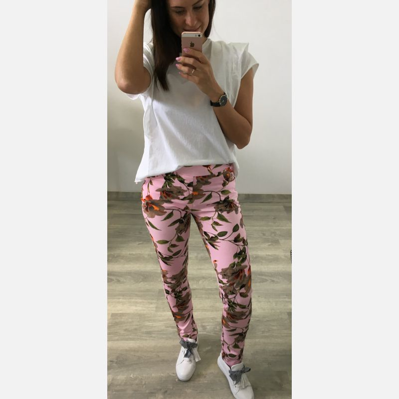 Spodnie Damskie Dresowe - Różowe (46567)