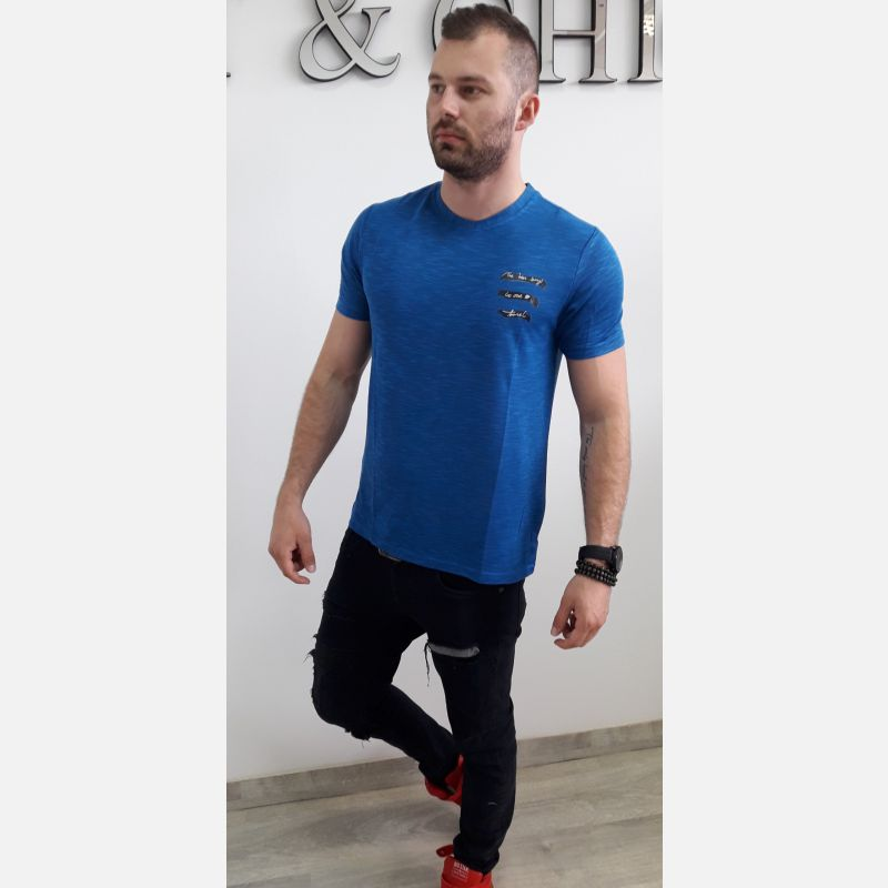 Koszulka Męska Benter - Niebieska (46530)