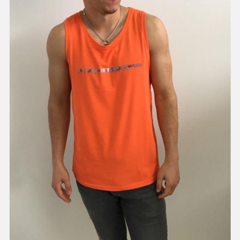 Koszulka Męska Top Benter - Pomarańczowy (99014)
