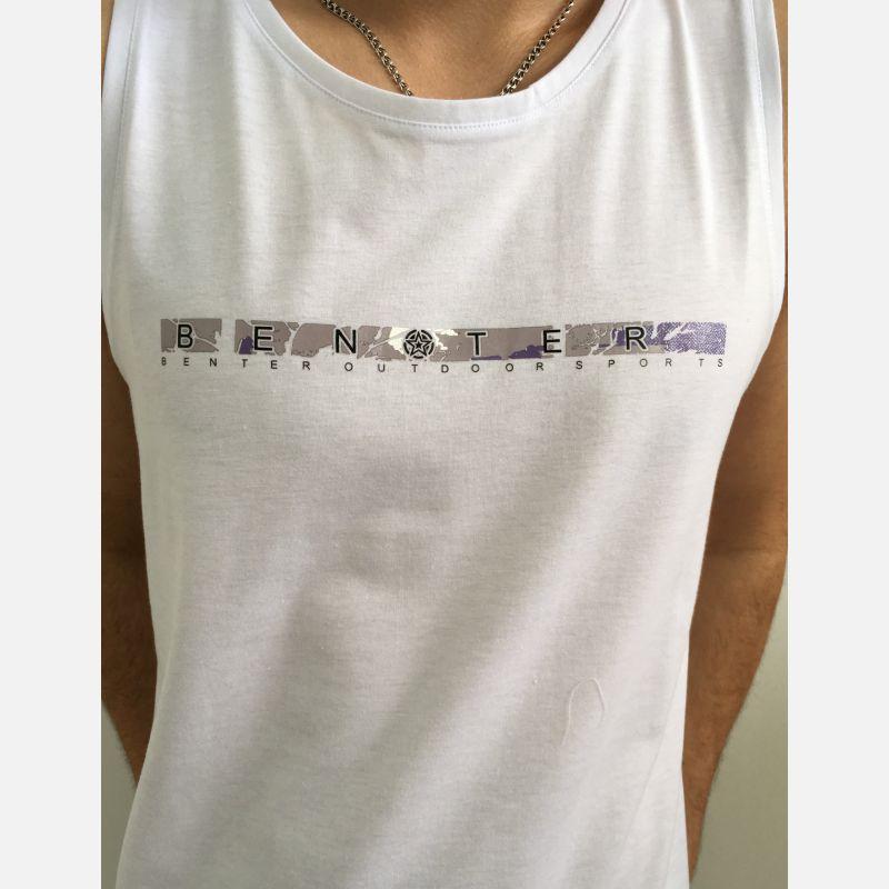 Koszulka Męska Top Benter - Biały (99014)