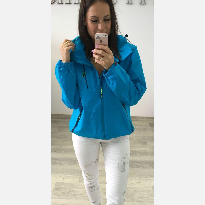 Kurtka damska typu: SOFTSHELL - Niebieska 23386