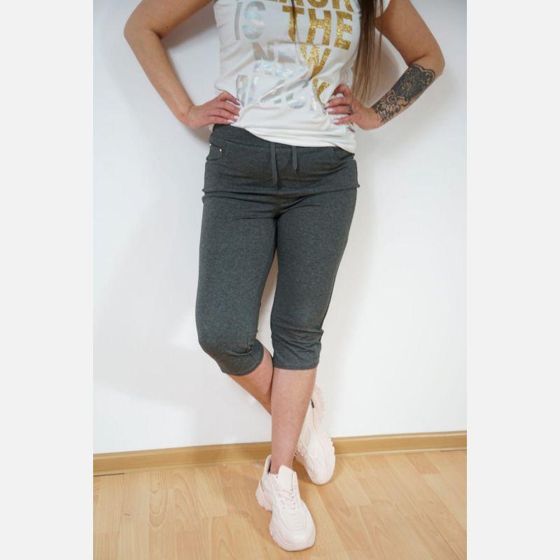 Spodnie Damskie Rybaczki 3/4 - grafit 46892