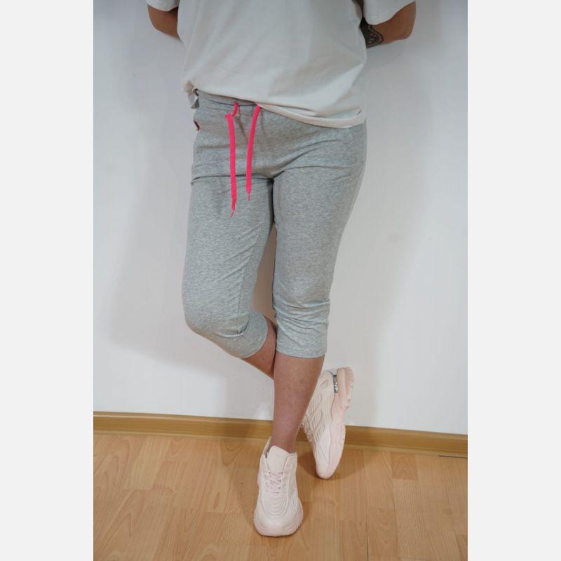 Spodnie Damskie Rybaczki 3/4 - 46881 szary