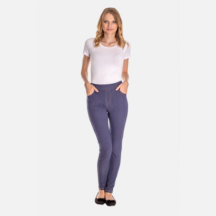 Spodnie Damskie Jegginsy - 46416 Niebieskie
